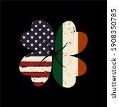 irish and american flag vector... | Shutterstock .eps vector #1908350785