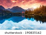 mountain lake in national park... | Shutterstock . vector #190835162
