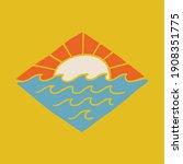 beach nature summer wild line... | Shutterstock .eps vector #1908351775