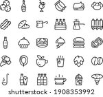 food line icon set   hot cup ... | Shutterstock .eps vector #1908353992