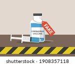 fake coronavirus vaccine flat... | Shutterstock .eps vector #1908357118