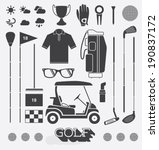 vector set  golf equipment... | Shutterstock .eps vector #190837172