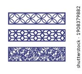 laser and cnc cutting pattern... | Shutterstock .eps vector #1908379882