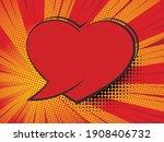 valentine heart. speech bubble... | Shutterstock .eps vector #1908406732