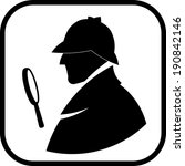 detective sherlock holmes... | Shutterstock .eps vector #190842146