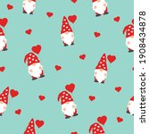 cute valentines gnomes in red... | Shutterstock .eps vector #1908434878
