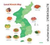 local menus of kimchi  a korean ...   Shutterstock .eps vector #1908436678