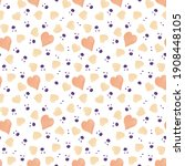 watercolor beige heart seamless ... | Shutterstock . vector #1908448105