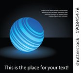 Abstract Blue Globe Design - stock vector