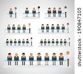 business peoples   isolated on... | Shutterstock .eps vector #190847105