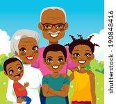 cute african american... | Shutterstock .eps vector #190848416