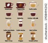 coffee set for different uses... | Shutterstock .eps vector #1908494242