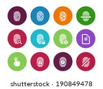 fingerprint circle icons on...