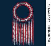 dark blue background with red... | Shutterstock .eps vector #1908499642