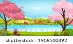 spring landscape vector green... | Shutterstock .eps vector #1908500392
