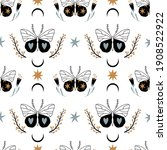 seamless pattern with doodle... | Shutterstock .eps vector #1908522922