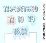 numbers illustration set for... | Shutterstock .eps vector #1908526648
