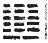 vector black ink grunge brush... | Shutterstock .eps vector #1908546292