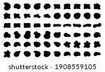 blob shapes vector set. organic ... | Shutterstock .eps vector #1908559105