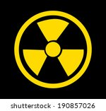 nuclear icon over black... | Shutterstock .eps vector #190857026