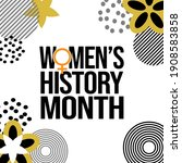 women's history month is an... | Shutterstock .eps vector #1908583858