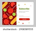 Newsletter Design With Candies. ...