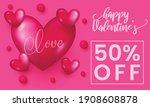 happy valentine day banner sale ... | Shutterstock .eps vector #1908608878