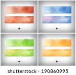 abstract vector polygonal... | Shutterstock .eps vector #190860995