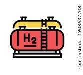 Tank Storaging Hydrogen Color...