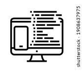 coding phone application on... | Shutterstock .eps vector #1908637975