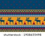 reindeers and saami patterns...   Shutterstock .eps vector #1908655498