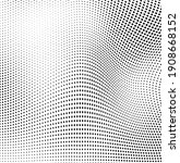abstract wave halftone black...   Shutterstock .eps vector #1908668152