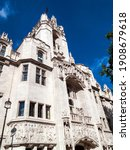 Small photo of The Supreme Court, formerly the Middlesex Guildhall in Parliament Square Westminster London, England UK which is a popular tourist travel destination attraction landmark, stock photo image