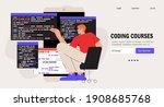 programmer working on web...