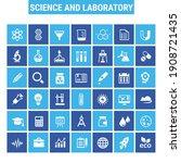 big science icon set  trendy...