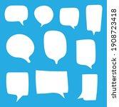 blank white speech bubbles set...   Shutterstock .eps vector #1908723418