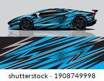 car wrap graphic racing... | Shutterstock .eps vector #1908749998
