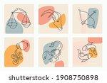 continuous line art zodiac... | Shutterstock .eps vector #1908750898