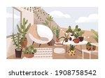 lounge terrace or balcony... | Shutterstock .eps vector #1908758542