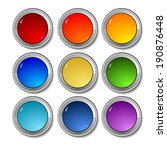 set of vector colored buttons | Shutterstock . vector #190876448