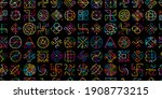 sacred geometry background ... | Shutterstock .eps vector #1908773215