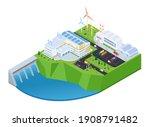 green energy   modern vector...   Shutterstock .eps vector #1908791482