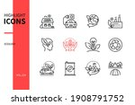 ecology concept   line design... | Shutterstock .eps vector #1908791752