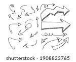 doodle design elements. hand... | Shutterstock .eps vector #1908823765