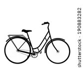 black shape bicycle. isolated... | Shutterstock .eps vector #190883282