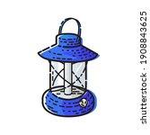 gas lantern or kerosene...   Shutterstock .eps vector #1908843625