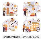 retiree budget plan concept.... | Shutterstock .eps vector #1908871642