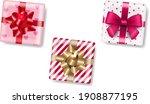 gift box isolated white...   Shutterstock .eps vector #1908877195