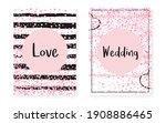 glamour confetti. golden... | Shutterstock .eps vector #1908886465
