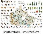 Isometric 3d Design Of Canada...